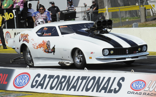 Craig Cawte made the long trip from Cranbrook BC to Gainesville only to have his 5.966 secs best run just miss the PM field (#17)