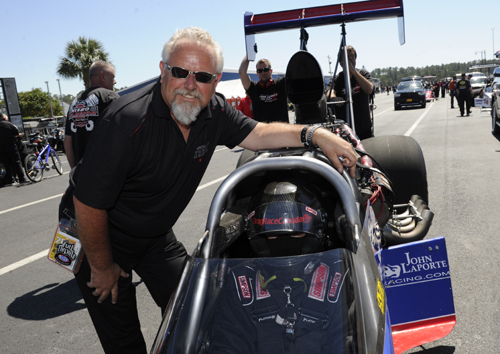 John Laporte and Ike Maier made their first Top Fuel event attempt of 2014 - but missed the field with a 4.448 secs best.