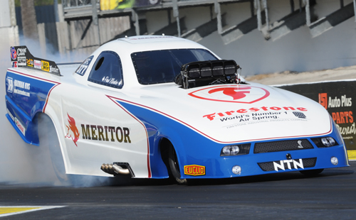 "Some rather big news for Canadian drag racing at Gainesville was the debut of a brand new Ford Mustang TAFC for Paul Noakes.  ""Noaksie"" qualified #13 with his new machine."