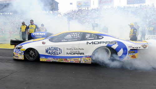 Allen Johnson had a remarkable debut race driving his 2014 Dodge Dart Pro Stocker