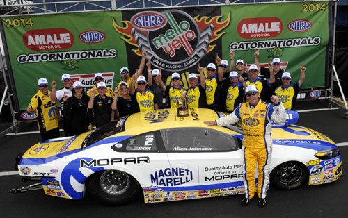 Allen Johnson celebrated his 22nd career victory for Dodge/Mopar & new primary sponsor Magnetti-Marielli