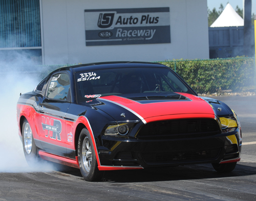 Lucas Oil Sportsman racing included a shocking 7.900 secs by Chris Holbrook's Mustang - the fastest ET ever recorded in Super Stock racing.
