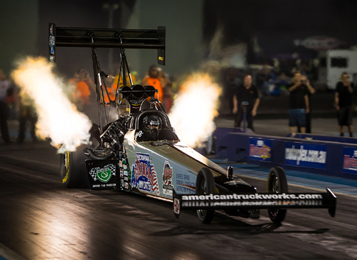 Darren Morgan emerged as  the Top Fuel winner in Sunday's event program.