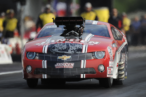 Mike Janis wheeled his late model supercharged Camaro to a convincing win in Pro Mod