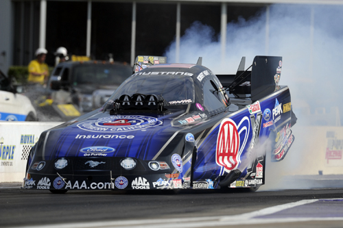 Robert Hight roared to his 5th consecutive NHRA FC final round and came away victorious in the JFR AAA Auto Club Mustang