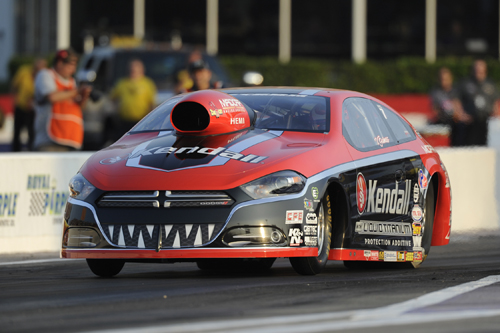Pro Stock racer V. Gaines debuted his all new 2014 Dodge Dart