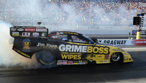"Toronto native Jeff Arend qualified ""Big Jim"" Dunn's FC with a 4.145 secs but lost out in Quad Round One."