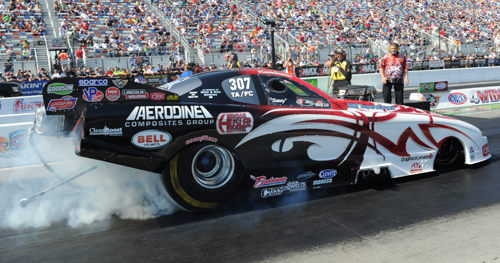 Cassie Simonton qualified Spiro Kontos' machine very strong at 5.587 secs which was good for #2 in TAFC
