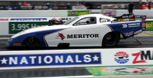 Paul Noakes did qualify the new Meritor-ba Mustang in the TAFC class with a 5.670 secs but was plagued by tire shake during the event.
