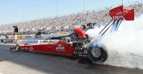 Ontario's Jeff Veale set top speed of the meet at 280.14 mph while enroute to a 2nd round finish