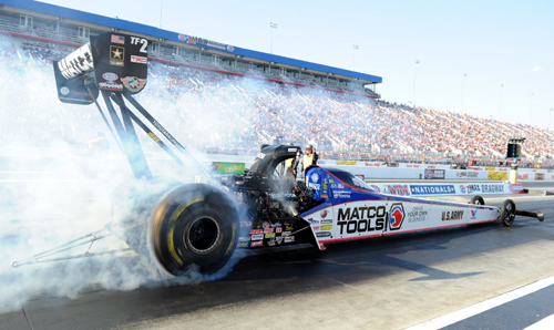 The Top Fuel winner was Antron Brown driving the DSR Matco Tools Dragster
