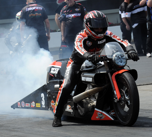 Pro Stock Motorcycle winner Andrew Hines