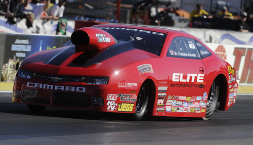 The Elite Motorsports Chevy owned by Rick Jones was the class of the field in Pro Stock at Las Vegas