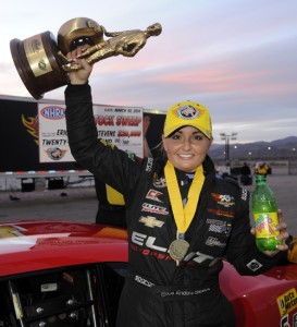 Fan favourite racer Erica Enders-Stevens won two major Pro Stock titles during her most successful weekend of racing yet.