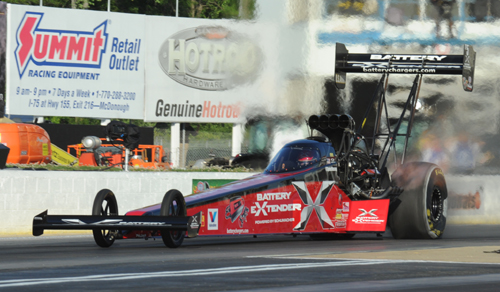 The Top Fuel winner was Spencer Massey in a final round upset over points leader Doug Kalitta