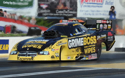 Jeff Arend drove the great looking Grime Boss Dodge into the field with a 4.208 secs - good for #14 in Fuel FC.