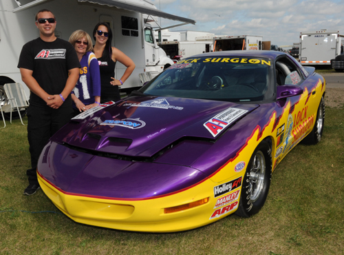 Casey (shown with Mom Cynthia and sister Frankie) will represent his NHRA division during the upcoming Jegs ALLSTARS event in Chicago
