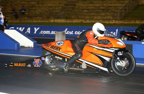 Defending ANDRA Champ Luke Crowley won again in Pro Stock Motorcycle