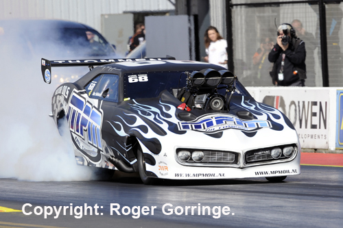 Holland's Marc Meihuizen put his cool Firebird on the Pro Mod pole.