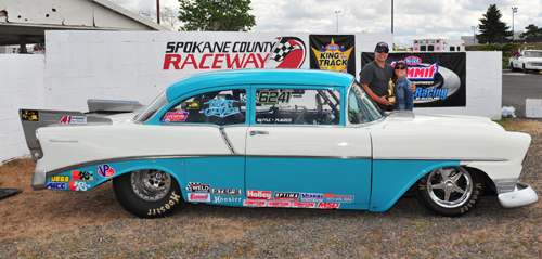 Casey Plaizier drove the '56 Chevy owned by Wayne and Tanis Battle to the S/ST title.