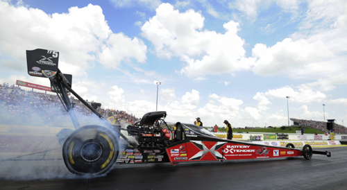 By winning for the 2nd event in a row - Spencer Massey moved to 3rd in the NHRA Top Fuel points standings.