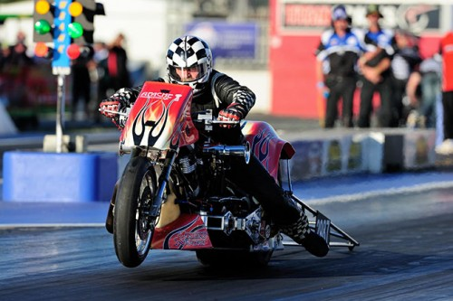 Mark Drew was the fastest motorcycle at Willowbank - hitting a 6.372 secs at 228.96 mph best
