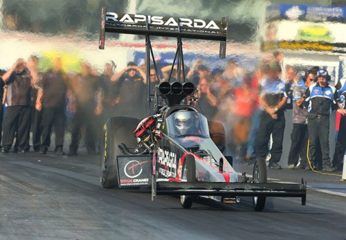 Damien Harris - driving for Rapisarda Autosport International - prevailed in Top Fuel