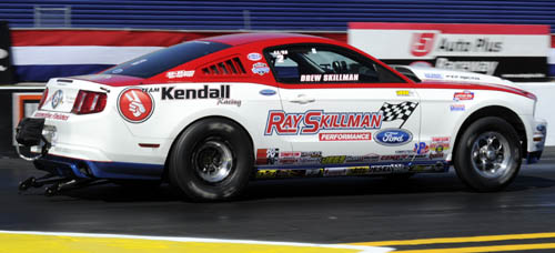 Drew Skillman drove his ultra fast Ford Mustang to the Stock eliminator title