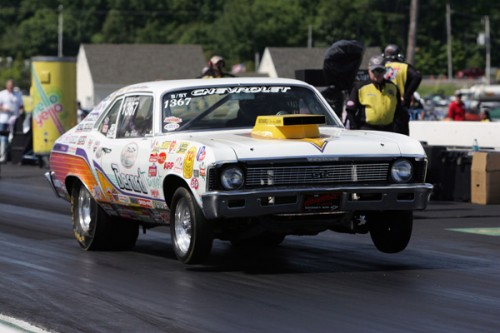 Quebec's Alain Berard had a terrific run in Super Street at New England - he took his '68 Nova to the 5th round in competition.