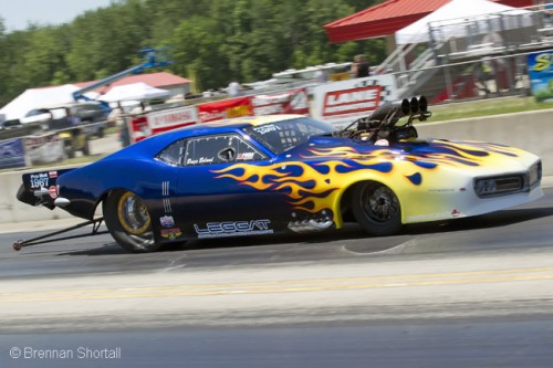 Bruce Boland set low ET at the PMRA race in Michigan and increased his points lead with a R/UP finish.