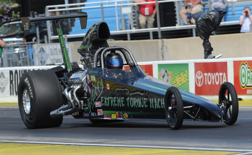 Al Provost made the long haul to Chicagoland from Abbotsford BC to run in Top Dragster.  Al qualified #4 with a 6.929 secs before losing out narrowly in round two.