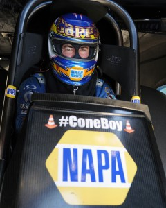 Ron Capps earned his 41st career win in NHRA fuel FC racing