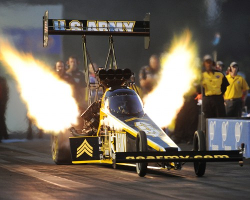 Tony Schumacher powered to his 2nd win of the season in Top Fuel.