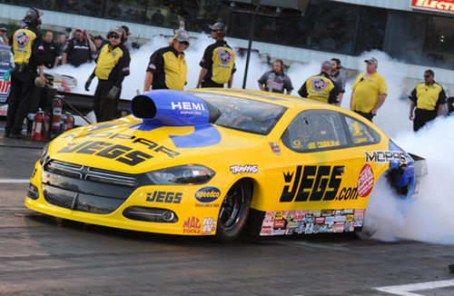 Jeg Coughlin took his Hemi-powered Dodge Dart to victory lane for the 2nd time this season.