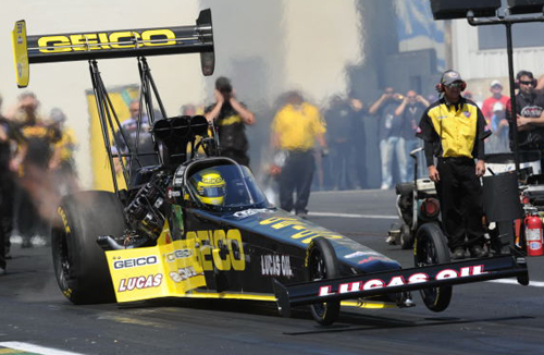 Australia's Richie Crampton delivered another refreshing international victory for NHRA drag racing