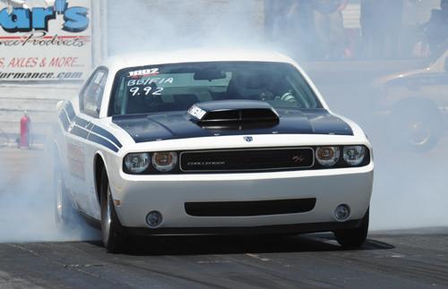 Bob Andrews pleased event sponsor Mopar when he entered his Burlington-based Dodge Challenger in Stock eliminator.