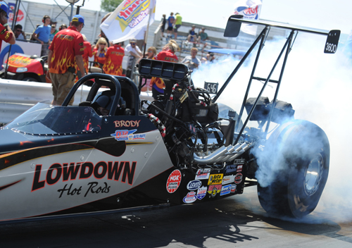 The LowDown Hot Rods car driven by Brody Van Der Geld was just one of the many high quality cars entered in Top Dragster