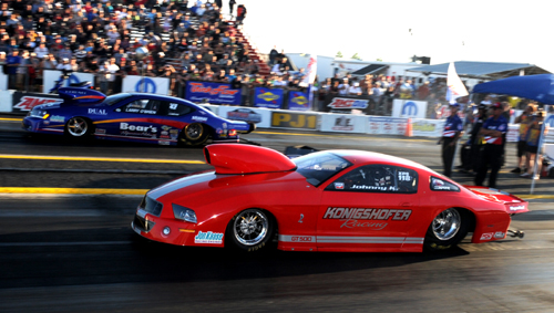 In what was a preview of bigger things to come for IHRA 2015 - Canadian Mountain Motor Pro Stock stars John Konigshofer & Larry O'Brien participated in a demonstration eliminator.