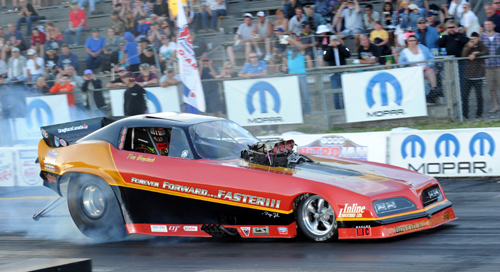 Previous Mopar Canadian Nationals Champion -Edmonton's Tim Boychuk -- qualified his nitro burner #4 at 5.915 secs and went to the semi final round.