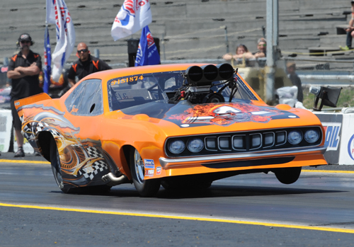 Michigan's Jason Kalso had a good race with his ultra cool Barracuda going to the  final four in competition.