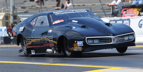 Formers Street Car racing standout Mike Yedgarian tried his hand in Pro Mod for the first time -- he came away with a semi final finish and top speed of the event (246.71 mph)