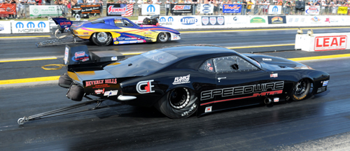 Toronto's Mike Yedgarian's turbo charged Firebird was the talk of the Pro Mod pits -- he set top speed at 246.71 mph in his first PMRA event experience.