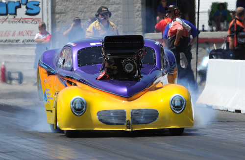 Jeff Roth was R/UP in Pro Mod with his mega popular '41 Willys