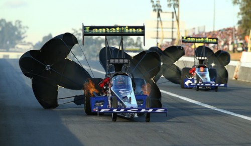 Australia TF powerhouse Phil Lamattina set both low ET and top speed during qualifying at 4.560 secs and 327.98 mph