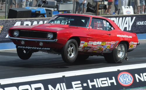 2011 World Champion Jackie Alley won in Super Stock with her Camaro