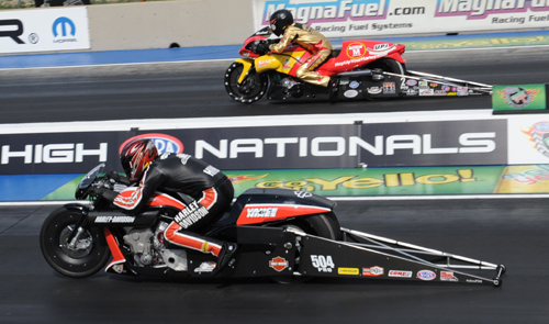 The PSM final saw Andrew Hines dominate Michael Ray