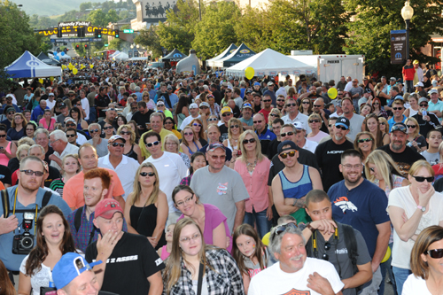 """Prior to the event - Mopar hosted yet another immensely successful """"Block Party"""" downtown nearby Golden CO."""