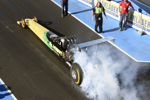 Monty Bugeja winner of Top Methanol Dragster 2014 Nitro Nationals, Alastaro, Finland.
