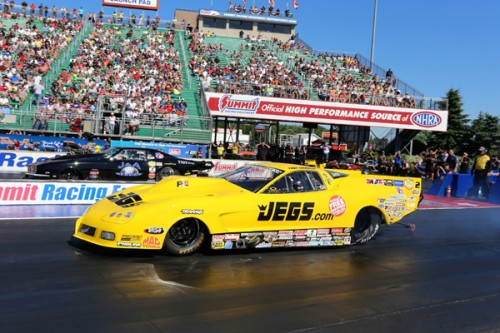 Troy Coughlin wheeled his Jegs turbocharged Corvette to a victory in Norwalk Ohio last weekend