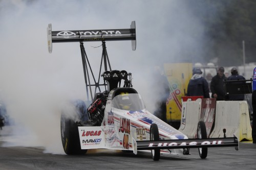 Morgan Lucas was the only winner determined during last weekend's NHRA national event held at BIR.
